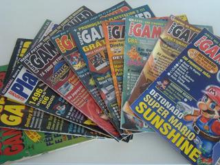Lote 10 Revistas Games - Super Gamepower