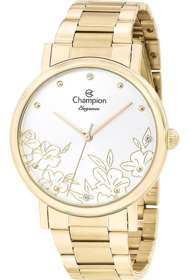 Relógio Feminino Champion Dourado Cn25887h