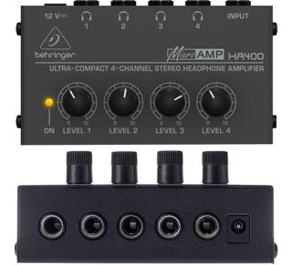 Amplificador Auriculares Behringer Ha400 Micro Amp 4ch