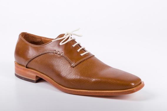 Zapatos De Cuero Color Habano Para Hombre