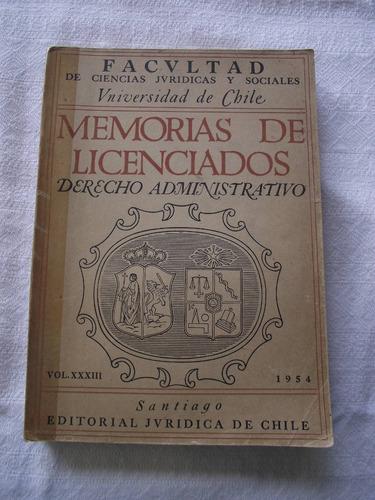 Memorias Licenciados Derecho Administrativo N23 Envío Gratis