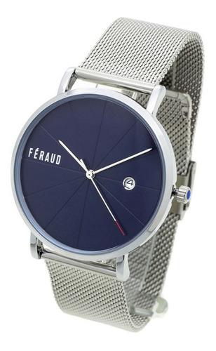 Reloj Feraud Hombre 5522 - Malla Tejida Acero Wr30 Fecha
