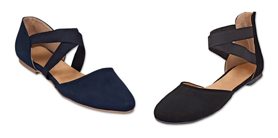 Paqute Kit 2 Pares Zapato Flat Dama Mujer Casual Moda