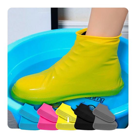 Cobertor Zapatos Silicona Impermeable Sumergible Anti Lluvia