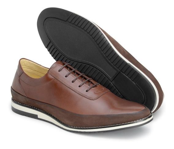 Sapato Social Masculino Oxford Estilo Inglês Luxo Em Couro