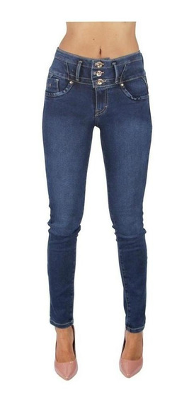 Jeans Dama Mujer Stone Push Up Casual Skinny