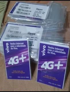 Kit 100 Chips Vivo 4g P/ Qualquer Ddd Atacado