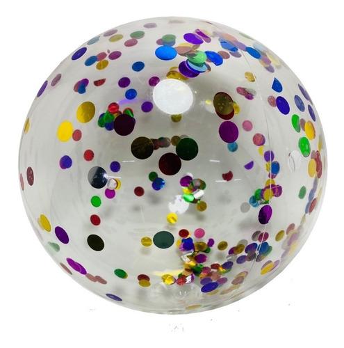 Imagen 1 de 2 de Globo Inflable Burbuja Redondo Con Confetti