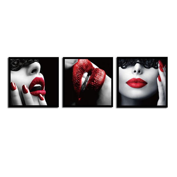 Beleza Lábios Vermelho Pintura Tintas De Parede Moderno Pint