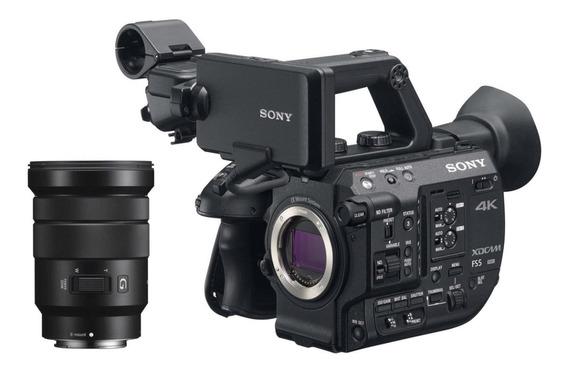 Filmadora Sony Pxw-fs5 4k Xdcam Super 35mm Lente 18-105mm
