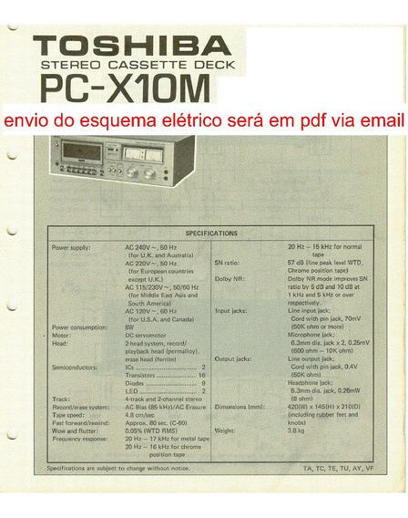 Esquema Tape Deck Toshiba Pcx10m Pcx 10m Pcx 10m Via Email