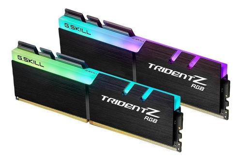 Memória RAM Trident Z RGB color Preto  64GB 2x32GB G.Skill F4-3600C18D-64GTZR