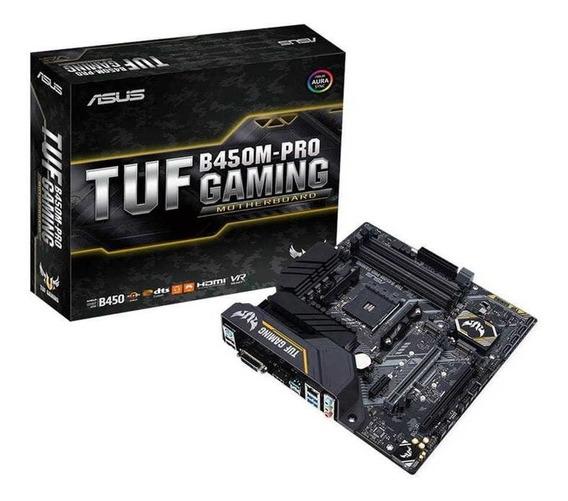 Placa Mãe Asus Tuf B450m-pro Gaming Ddr4 Am4 Amd Ryzen B450