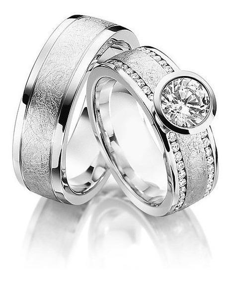 Aliança Diamantes Luxo