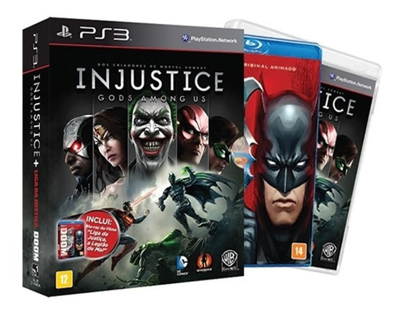 Injustice Gods Among Us + Liga Da Justiça Ps3