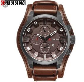 Relógios Curren 8225 Social Luxo Couro Com Caixa Original