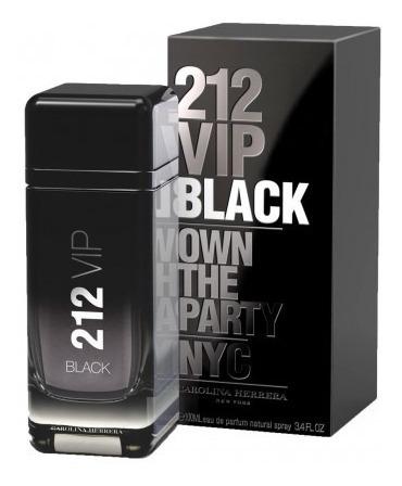 Perfume 212 Vip Black Edp 200ml Original + Brinde Amostra