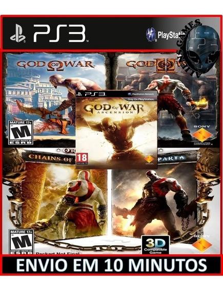 God Of War 5 In 1 Ps3 Psn Jogo Português Game Mídia Digital