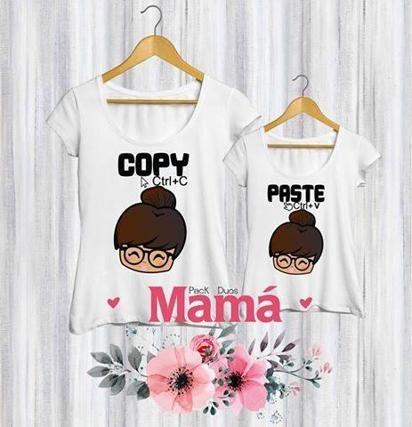 Dúo Remeras Mama E Hija/o. Ideal Día De La Madre.