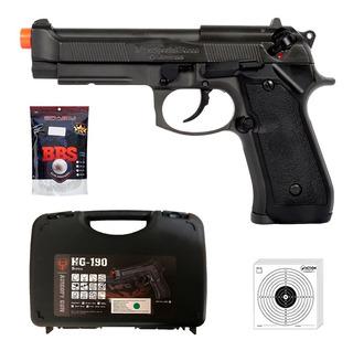 Pistola Airsoft Gbb Pt92 Hfc Rossi Blowback Metal Rajada 6mm