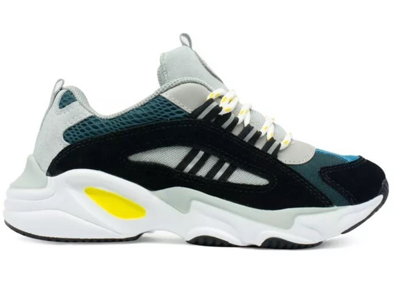 Tênis Chunky Sneakers Wave Qix Moda Ugly Shoes Salto Robusto