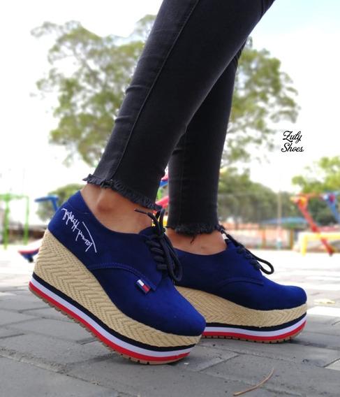 Zapatos Deportivos Plataforma Para Dama Mujer Nuevas