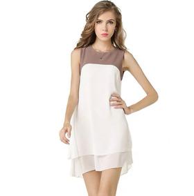Vestido blanco suelto corto