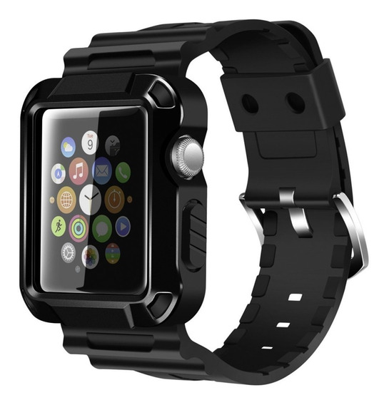 Protector + Correa Iite Para Apple Watch Serie 2 42mm -negro