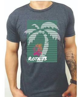 Camiseta Camisa Masculina Algodão Gola Redonda Estampada R11