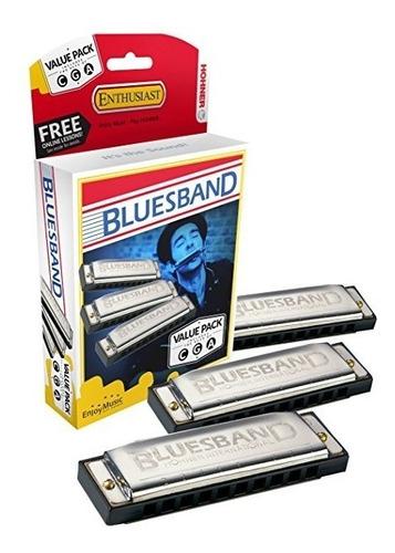 Hohner Pack De Armonicas Bluesband X3 C-g-a