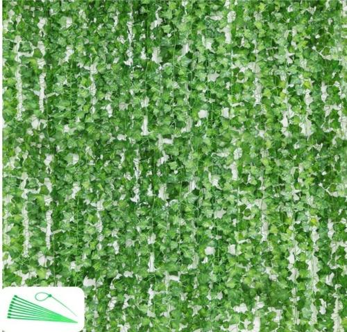 24 Tiras De Hiedra Artificial Hojas Jardin Vertical