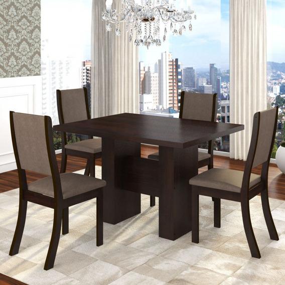 Mesa De Jantar Kaly E 4 Cadeiras Kiara Twist Siena Gi