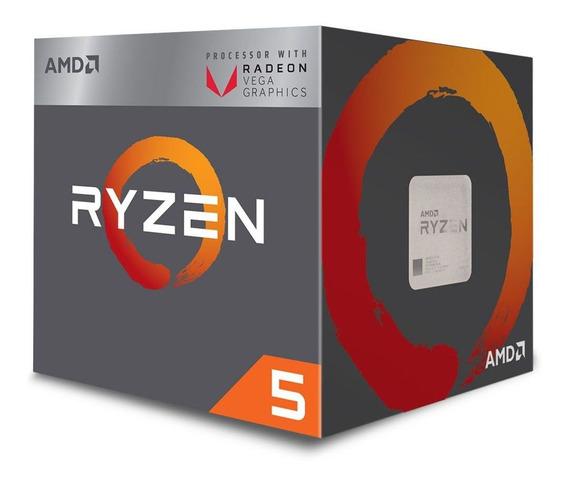 Processador Amd Ryzen 5 2400g C/cooler Am4 - Yd2400c5fbbox