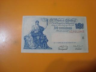 Billete De 50 Centavos Progreso Moneda Nacional Serie E
