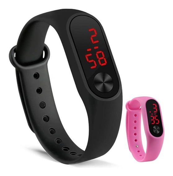 Relógio Digital Feminino Masculino Esporte Esportivo Top