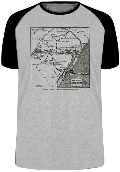 Camiseta Luxo Linhas Férreas Rio Grande Do Sul Antigo Trem