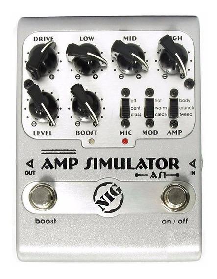 Pedal Nig Amp Simulator As1 Original Nota Fiscal + Garantia