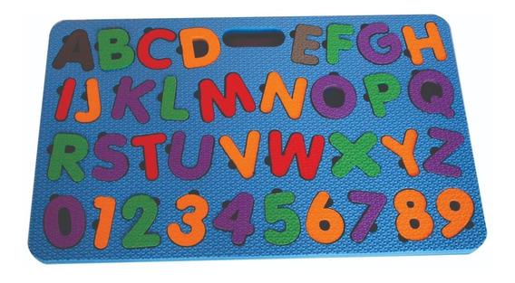 Tabuleiro Alfabeto Com Números Eva Educativo Brinquedo