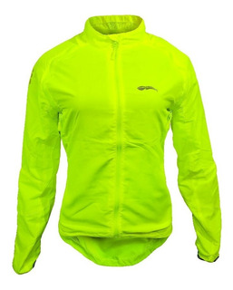 Campera Para Ciclismo Running Moto Fluo Dama Impermeable