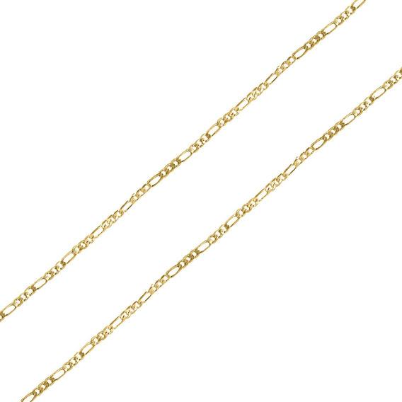 Corrente Masculina Malha Piastrine 3x1 3mm Folheado Ouro 18k