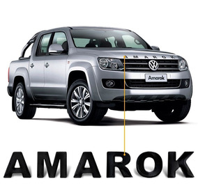 Adesivo Frontal Capo Amarok 2013 2014 2015 Preto Resinado