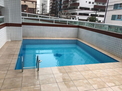 Apartamento No Litoral Paulista Com 2 Dormitórios À Venda, 82 M² Por R$ 380.000 - Cidade Ocian - Praia Grande/sp - Ap0080