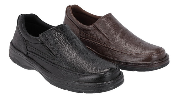Sapato Masculino Kit 2 Pares Galway Casual Couro 2021p-2021c