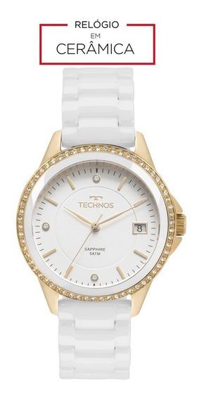 Relógio Technos Feminino 2315kzs/4b Ceramica Branco