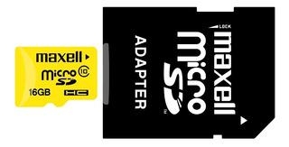 Tarjeta Memoria Micro Sd 16gb Clase 10 90mb/s Uhs-1 Maxell