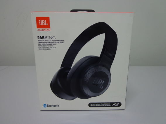 Fone De Ouvido Headphone Jbl E65 Nc Bt - Bluetooth Preto