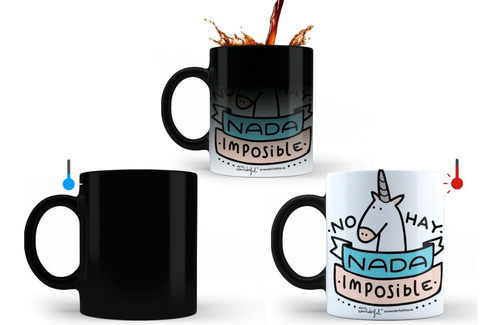 El Mugs Magico Personalizados Cambia De Color Con Calor