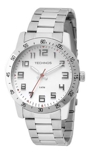 Relógio Technos Masculino Prata 2035lwd Usado-leia O Anúncio