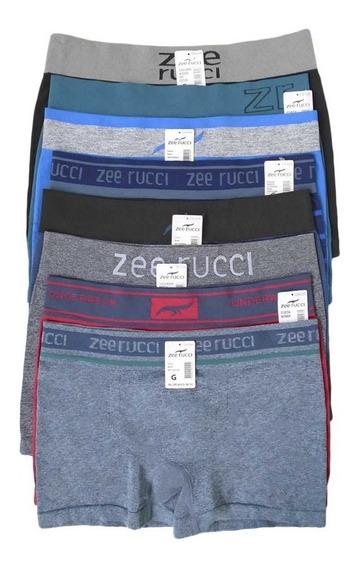 Cueca Boxer Zee Rucci Poliamida Sem Costura Kit Com 10 Peças