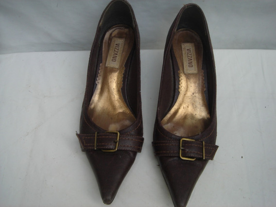 Sapato Scarpin Da Vizzano Em Couro Legitimo Nº 36